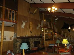 A restaurant or other place to eat at Black Cat Guest Ranch