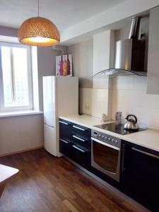 A kitchen or kitchenette at Apartment Zvezdova