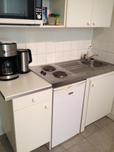 A kitchen or kitchenette at Lyon Berthelot