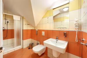 A bathroom at Penzion Krumlov - B&B Hotel