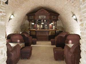 Zona de lounge sau bar la Fronius Boutique Residence