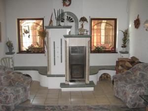 Ein Sitzbereich in der Unterkunft Zenner's Landhotel