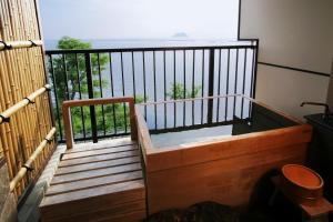 A balcony or terrace at Ryokan Beniayu