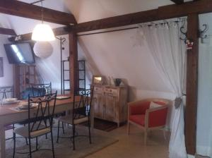 A seating area at Gite l'Ame d'Antan