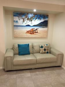 A seating area at Bluewater Harbour Serviced Apartments