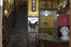 The lobby or reception area at Hotel Touring