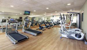 Het fitnesscentrum en/of fitnessfaciliteiten van Hotel Puente Real