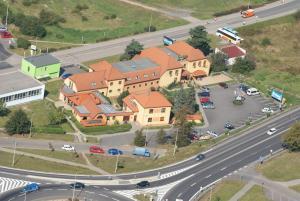 Letecký snímek ubytování Hotel Relax u Drsů