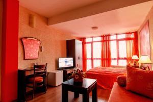 Телевизия и/или развлекателен център в Хотел Аквая