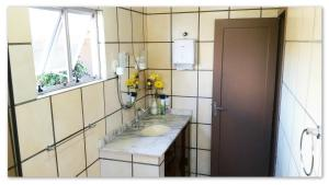 Um banheiro em Stammtisch Hostel