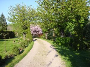 A garden outside Chambres d'Hotes chez Renée