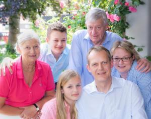 Eine Familie, die in der Unterkunft Ringhotel Paulsen übernachtet