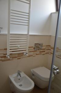 A bathroom at B&B President's Home