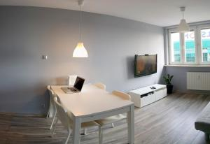 A television and/or entertainment center at City Centre Apartments