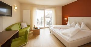 Кровать или кровати в номере Hotel Residence Pernhof