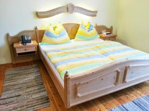 Ein Bett oder Betten in einem Zimmer der Unterkunft Gasthaus Dürregger