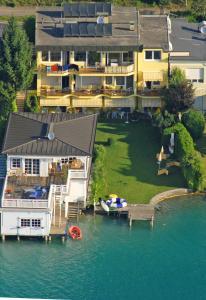Blick auf Seehaus Jamek aus der Vogelperspektive
