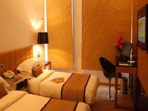 Cama o camas de una habitación en Hotel Palace Heights