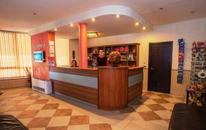 Лоби или рецепция в Хотел Аквая
