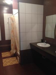 Ванная комната в Гостиница Зори
