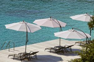 Пляж на территории апарт-отеля или поблизости