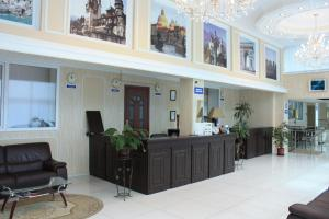 The lobby or reception area at Europa Hotel