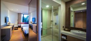 ห้องน้ำของ บ้านลานสวนรีสอร์ท