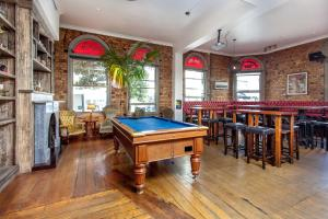 A pool table at The Shakespeare Hotel