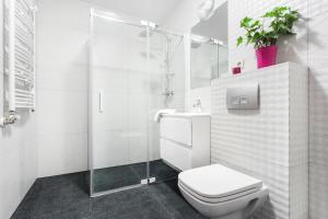 A bathroom at Apartamenty Borowinowa2