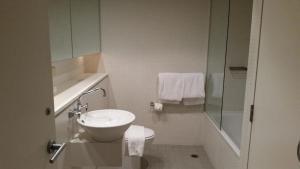 A bathroom at Wyndel Apartments - Shelley