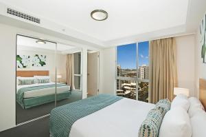 A room at Aqua Vista Resort