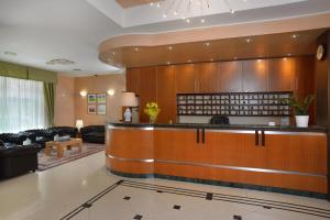 The lobby or reception area at Astor Hotel