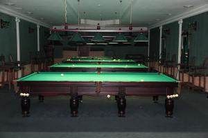 A billiards table at Kleopatra VIP hotel