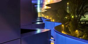 Uma varanda ou terraço em Hotel Aleluia