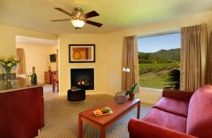 A seating area at West Sonoma Inn & Spa