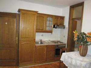 A kitchen or kitchenette at Apartments Antonia