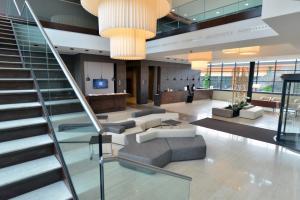 The lobby or reception area at Hilton Garden Inn Milan North