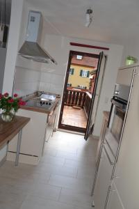 Küche/Küchenzeile in der Unterkunft Baumeisterhaus
