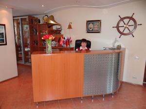 Лобби или стойка регистрации в Отель Маяк
