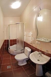 A bathroom at Hotel Konvalia