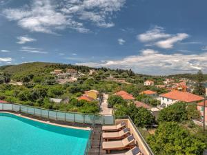 A view of the pool at Fiscardo Bay Hotel or nearby