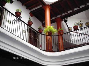 A balcony or terrace at Casa del Agua