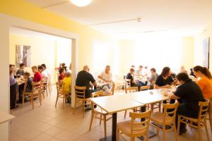 A restaurant or other place to eat at a&o Prague Metro Strizkov