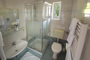 A bathroom at Hotel Pansion Stanger