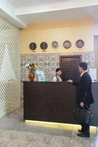 The lobby or reception area at Shah Palace Hotel