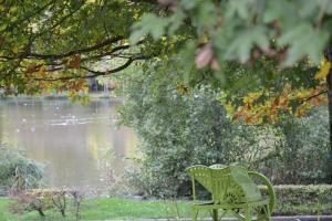 Jardin de l'établissement Hotel Restaurant des Lacs