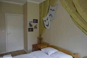 A bed or beds in a room at Rojupe