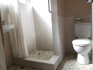 A bathroom at Ipswich City Motel
