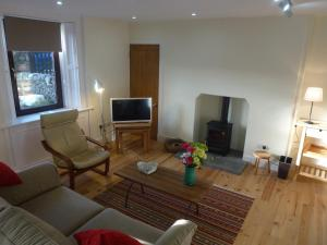 A television and/or entertainment center at Juniper Cottage