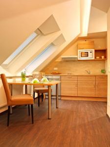 Küche/Küchenzeile in der Unterkunft Hof31